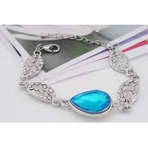 Oferta Pulsera Brazalete Swarovski Elements Crystal Azul