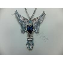 Aliferstyler Collar En Oro Blanco Con Dije De Aguila