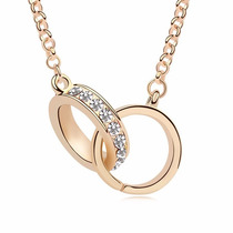Collar Enchapado En Oro De 18k Y Finos Cristales
