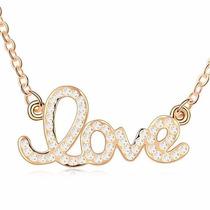 Collar Enchapado En Oro De 18k Love