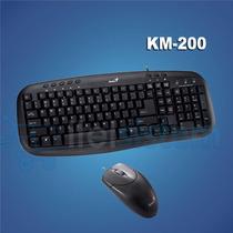 Kit Teclado Genius + Mouse Km 200 Negro Usb Itelsistem