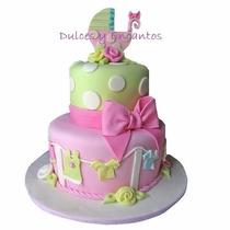 Tortas Baby Swower Cumpleaños Bebes Niños Fiestas Bautizo
