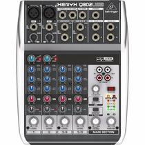 Interfaz Y Mixer Xenyx Q802 Usb Beheringer/sonidos Castillo