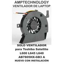 Ventilador Laptop Toshiba Toshiba Satellite L600 L645 L640