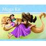 Kit Imprimible 2 Enredados Rapunzel Diseñá Tarjetas Cumples
