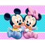 Kit Imprimible 2 Mickey Minnie Bebe Diseñá Tarjetas Cumples