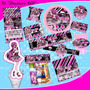Kit Imprimible Monster High Draculaura 1600 Tarjetas Cumple4