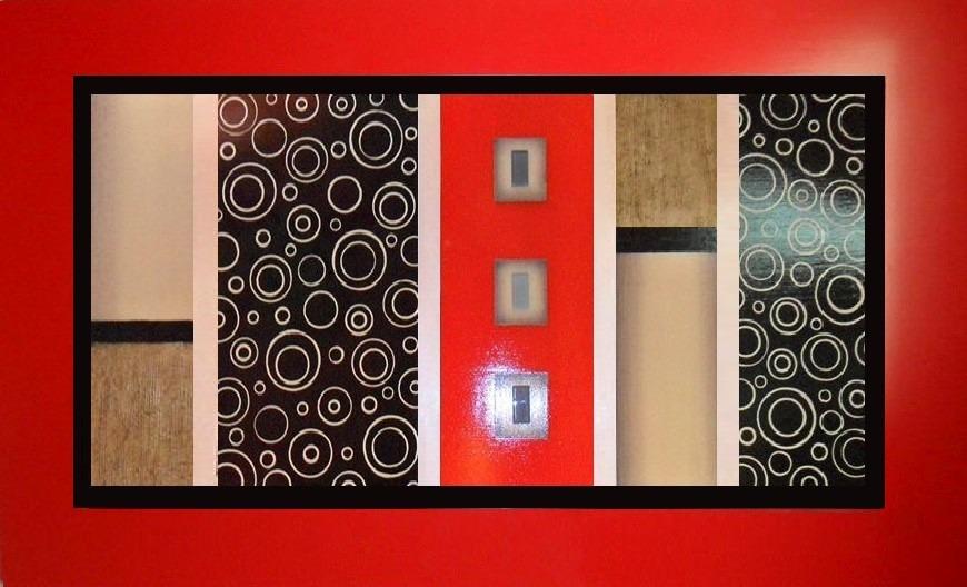 Cuadros negro blanco rojo grises estilo moderno quotes - Cuadros estilo moderno ...