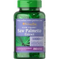 Saw Palmetto 1000mg 180 Capsulas Blandas Importado De Usa***