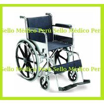 Silla De Ruedas Importada Aros De Aluminio Estructura Cromad