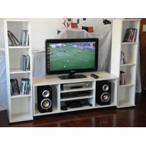 Mueble Para Televisores Leds De 42 Y Equipos De Blu Ray