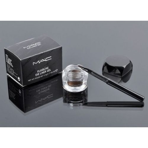Delineador Negro En Gel + Aplicador Mac / Maquillaje