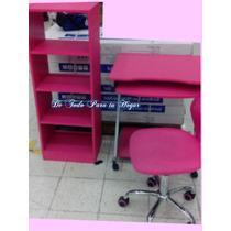 Mueble De Computo + Librero Modelo Pink