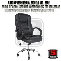 Sillón Presidencial 7307,cromado,reclinable,alt Regulable!!