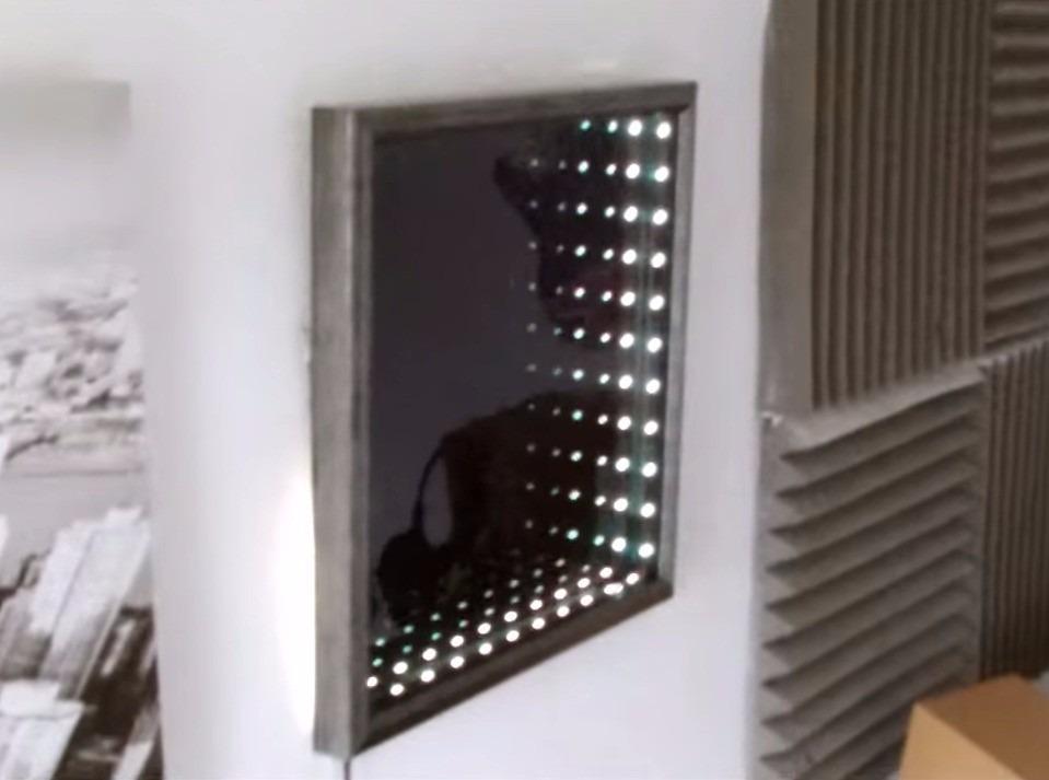 Espejos decorativos infinitos sala comedor ba os con led for Espejos decorativos con luz