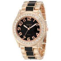 Reloj Xoxo Negro Con Dorado
