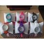 Reloj Para Damas Silicona Brillantes Colores Con Cajita!!!