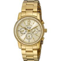 Reloj Para Mujer Marca Invicta Angel Dorado