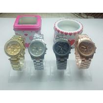 Reloj Geneva, Dorados Para Mujer