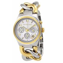 Reloj Michael Kors Mk3199 Twist Dorado Y Plateado Nuevo Caja