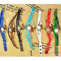 Reloj Pulsera Vintage De Cuero Para Dama Moda Retro - Luna