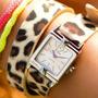 Hermoso Reloj Wild O Clock Cyzone Correa Animal Print Sborja