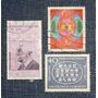 3 Estampilla Alemania Deutsche Bundespost Pierre D Coubertin