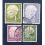 4 Estampillas Alemania Ddr Wilhelm Pieck Deutsche Bundespost