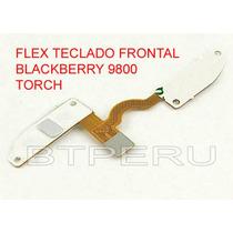 Flex Teclado Frontal Para Blackberry Torch 9800 Boton Menu