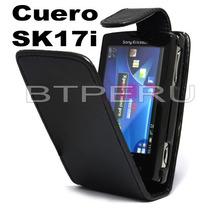 Estuche De Cuero Para Sony Ericsson Xperia Mini Pro Sk17i