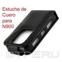 Funda Estuche De Cuero Para Nokia N900 Protector