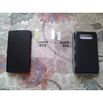 Pedido Estuche Lumia 820 Negro+protector Regalo Pantalla
