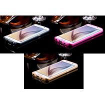 Bumper Case Aluminio + Tapa Acrilco Samsung Galaxy S6 Edge