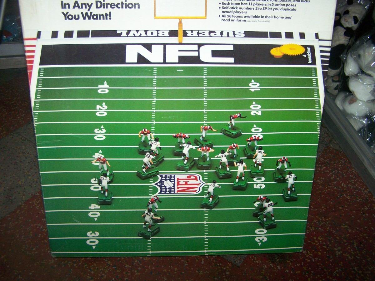 Futbol americano juego de mesa antiguo original en caja for Juego de mesa de futbol