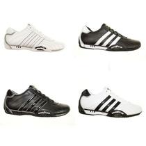 Calzado Hombre Adidas Sneackers Urbanas Blancas Y Negras