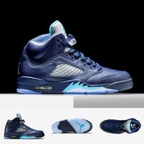 Zapatillas Nike Air Jordan 5 Retro | Azul Hornets Original
