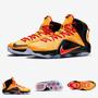 Zapatillas Nike Lebron 12 | Cleveland Naranja Negro 2015