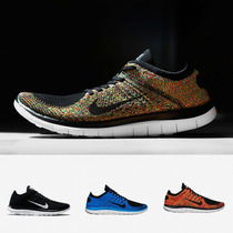 Zapatillas Nike Free 4.0 Flyknit | Azul Negro Blanco 2015
