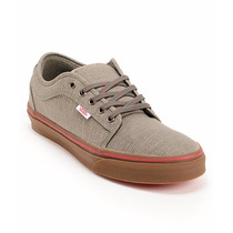 Zapatillas Vans Chukka Low Linen Grey & Gum Skate Shoes (men