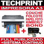 Epson A3 + Ciss Para Papel Couche Folcote Kimberly Foto Bond