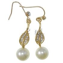 Aretes Perlas Con Cristales Exclusivos Para Vestido Blusa