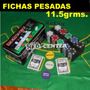 Poker 200 Set Completo Con Fichas Pesadas 11.5 Grms. Ncbdvc