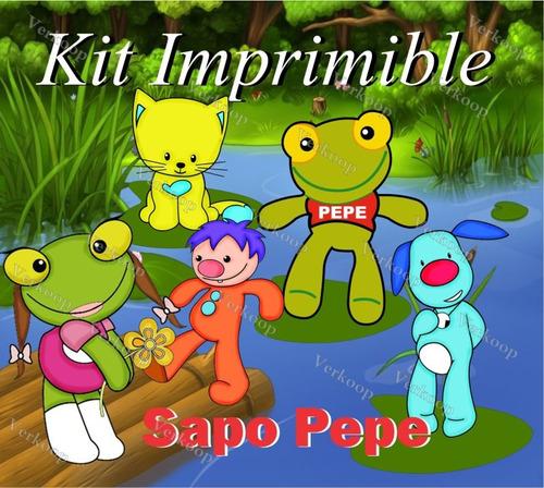Kit Imprimible Sapo Pepe Y Sapa Pepa Invitaciones Tarjetas