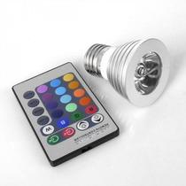 Foco 16 Colores Con Control Remoto Luz Led Decorativo 4w