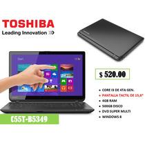 Laptop Toshiba 5349 Core I3 4ta Gen 4gb 500gb Tactil