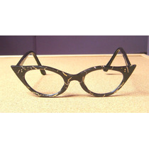 Lentes Vintage Cat Eye, Gafas Gato, Año 1970, Usa