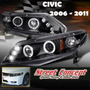!!! Faros Ojos De Angel Honda Civic 06 07 08 09 10 11 !!!