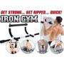 Barra Multifuncional Biceps Triceps Pectorales Iron Gym