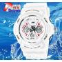 Reloj Original Skmei Blanco Japón Sport Led Acuatico