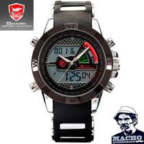 Reloj Shark Porbeagle 2 - Led Acero Inox Silicona - Colores